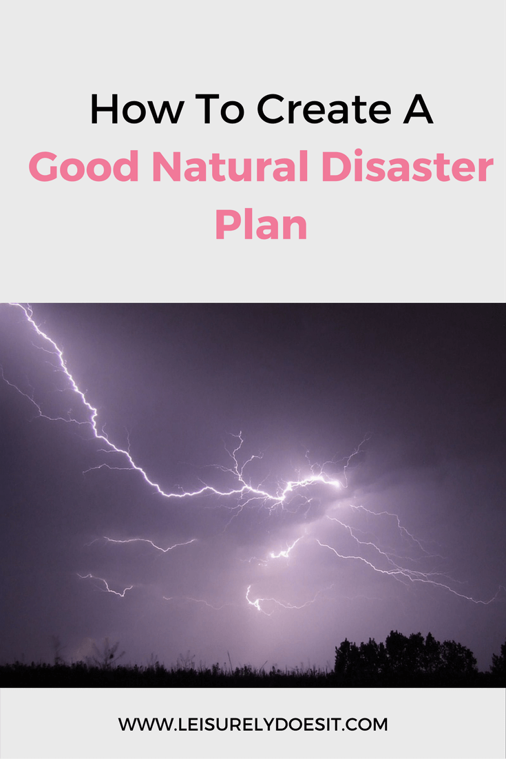 A natural disaster can happen at any time, with or without warning. Create a plan that ensures your family is prepared and to help keep them safe.