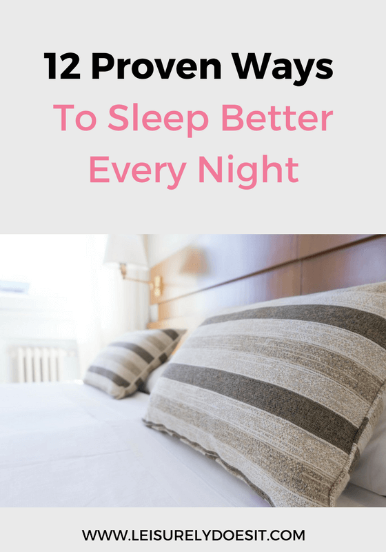 If you have difficulty getting to sleep or staying awake, follow these twelve proven tips to improve your rest every night.