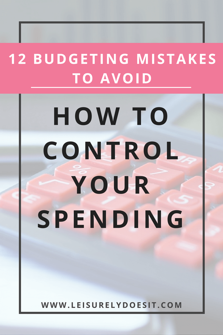 If you can avoid these twelve budgeting mistakes, you will be well on your way to successfully managing your money and maintaining your financial plan. Click for simple tips for beginners to cut back monthly spending and finally save money. via leisurelydoesit.com