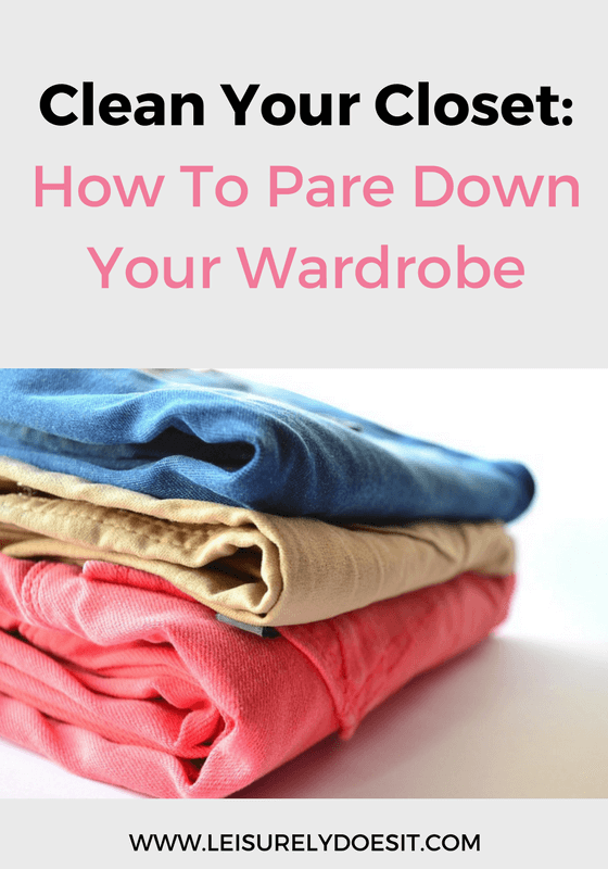 Use these simple tips to clean your closet and finally pare down your wardrobe so you can look forward to getting dressed in what you love everyday.