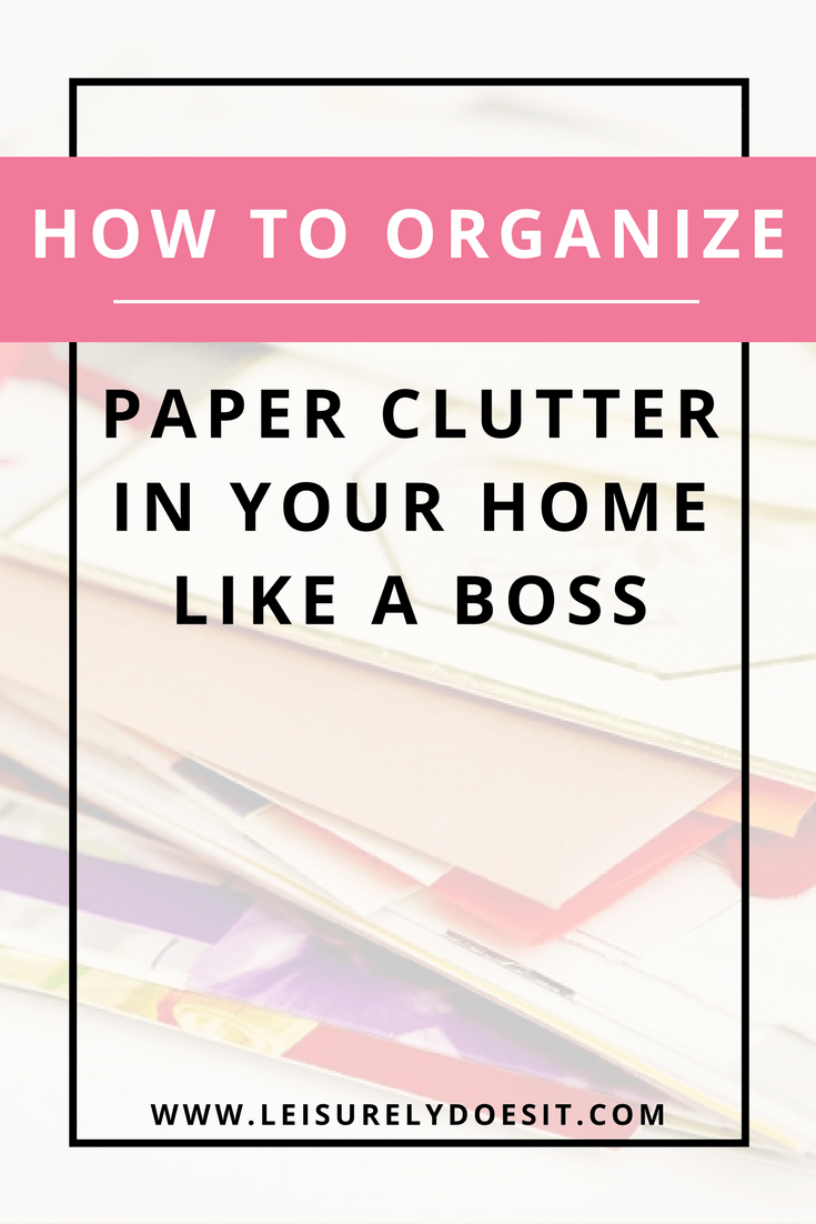 Despite advances in digital technology, we still can't seem to get rid of paper clutter in our homes. Click through for simple tips that will help you to reduce and organize paper in your house. via leisurelydoesit.com