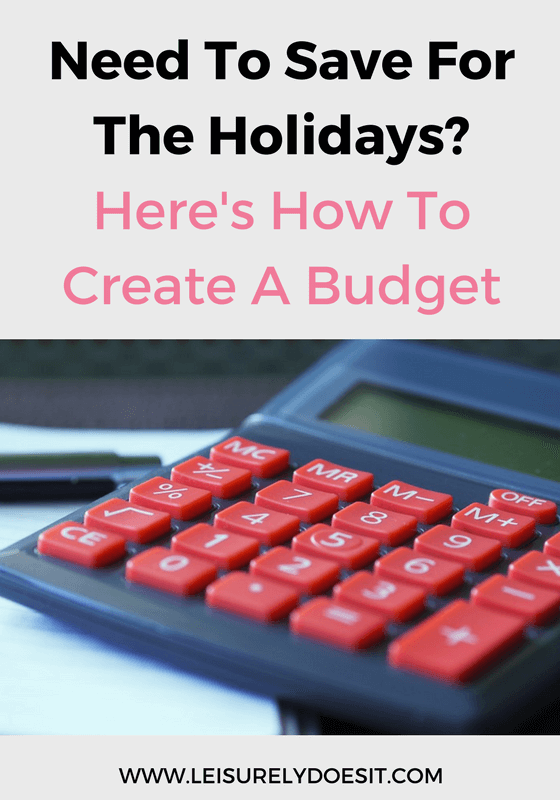 Having a budget for the holidays helps you to avoid financial strain and leaves you more relaxed when it's time to shop. Here's how you can create one.