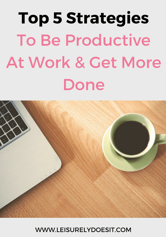 If you need a little help getting more done, try these top five strategies to eliminate distractions and become more productive at work.