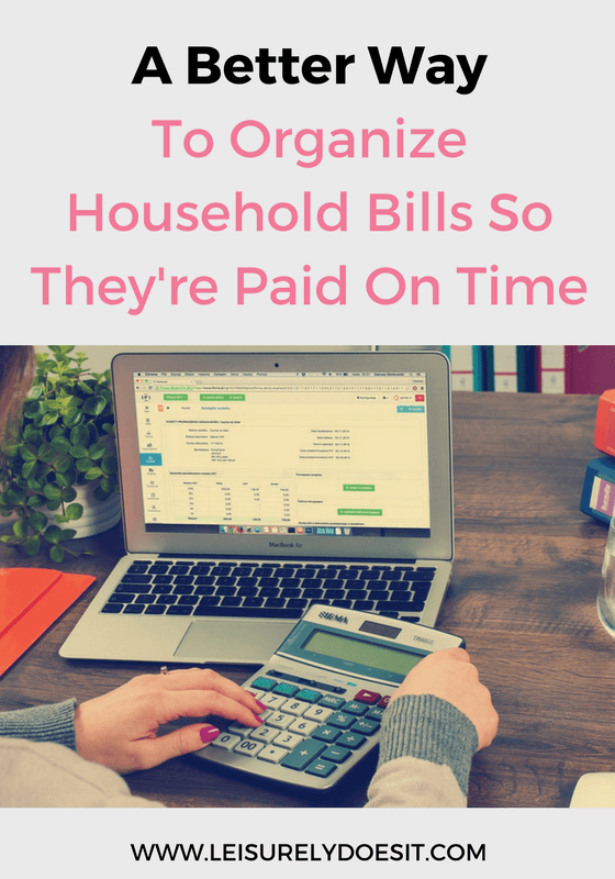 Organizing household bills is critical so you can easily track, find and pay them when you're ready. Here's an easy way to get it done.