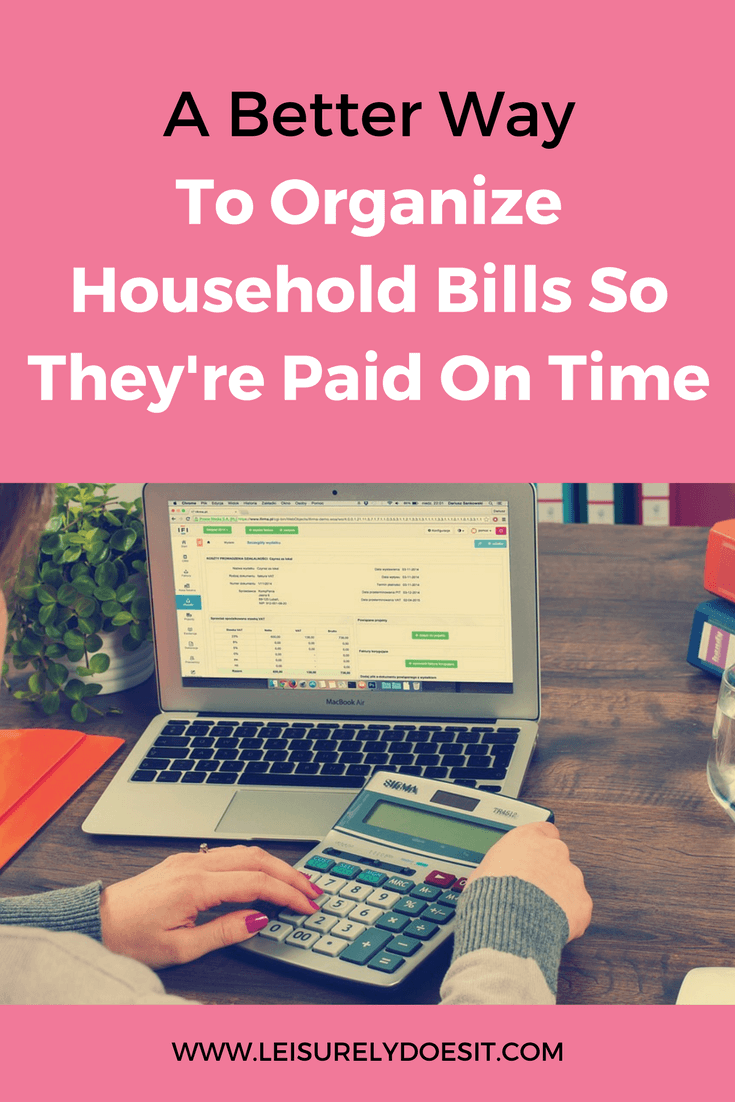 Organization of household bills is critical so you can easily track, find and pay them when you're ready. Click here for some simple ideas about how to organize the bills for your home. via leisurelydoesit.com