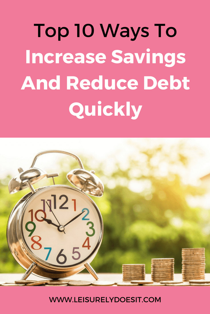 Do you want to get out of debt faster? To reduce debt quickly, you can make larger loan repayments. Here are ten simple tips to increase savings so you have the extra cash to do this. via www.leisurelydoesit.com