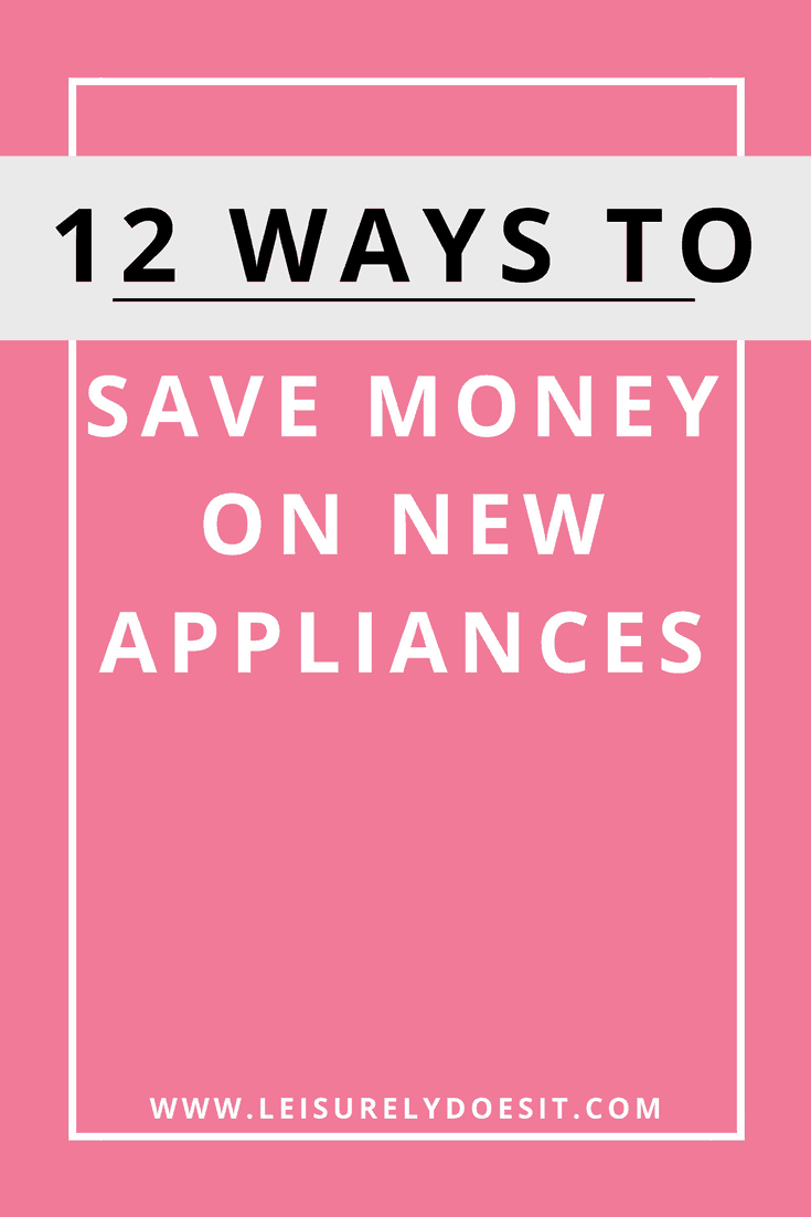 New new appliances for your home? They can be quite pricey! Here are twelve tips for how to save money on new appliances.