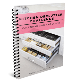 2018 Kitchen Declutter Challenge Calendar and Checklist