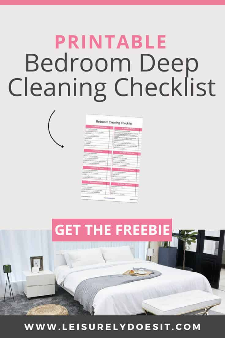 Printable Bedroom Cleaning Checklist