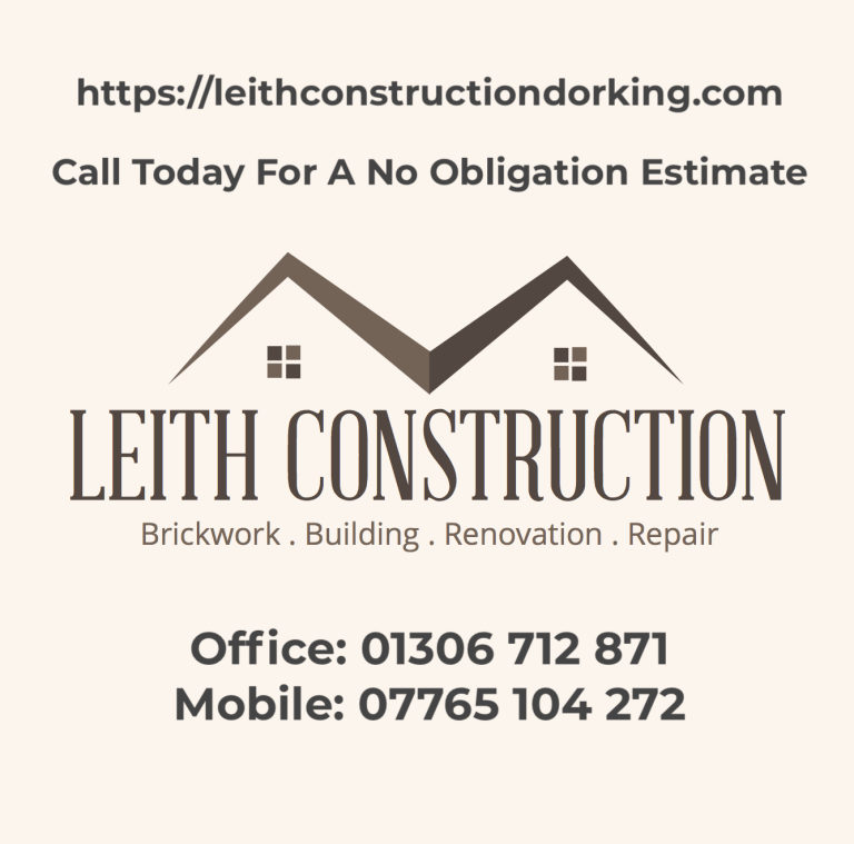 Leith Construction Contact and Location Information - Dorking Builder and Bricklayer - Builder Landscaper Leith Construction Dorking Horsahm Surrey West Sussex Geographical - Where we work - Areas Covered - Repair and Refurbishment Services - Builder and Bricklayer in Horsham