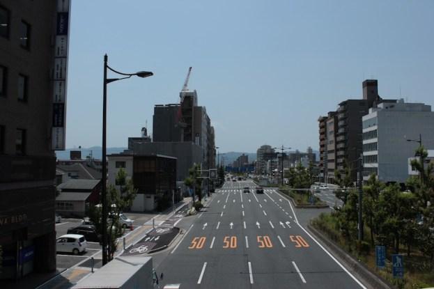 Route reliant le Nishi Honganji au Chateau Nijojo