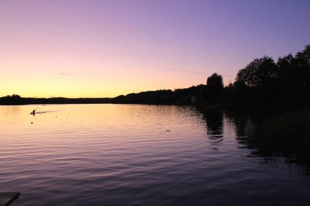 Lac près du campus ... les étudiants peuvent partir en kayak !