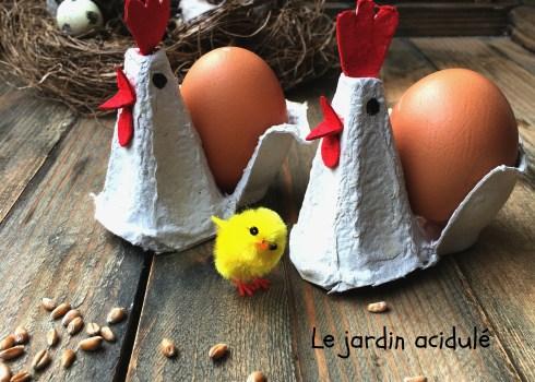 coquetier poules diy
