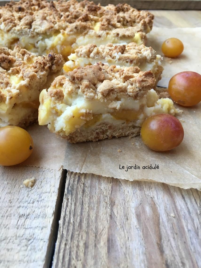 crumble squares aux myrtilles