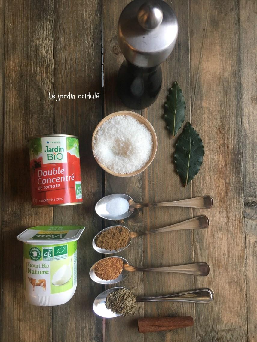 ingrédients crevettes à l'indienne