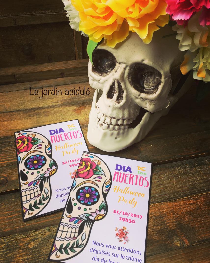 invitations dia de los muertos