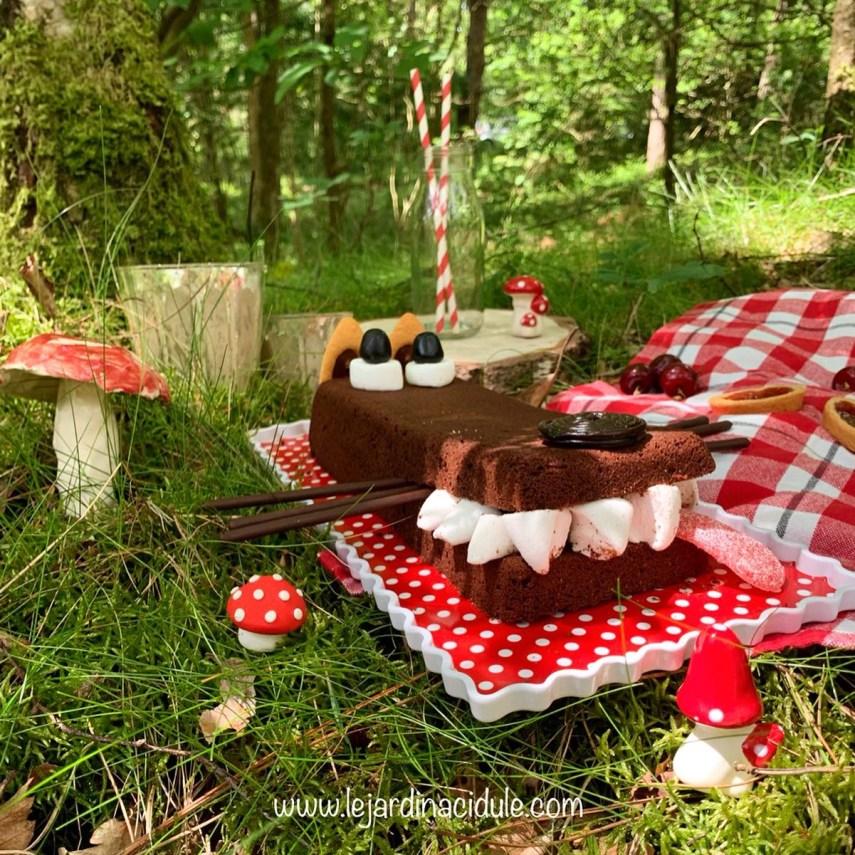 gâteau loup au chocolat