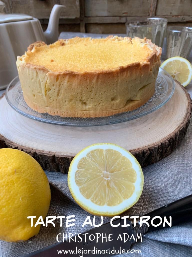 tarte au citron Christophe Adam