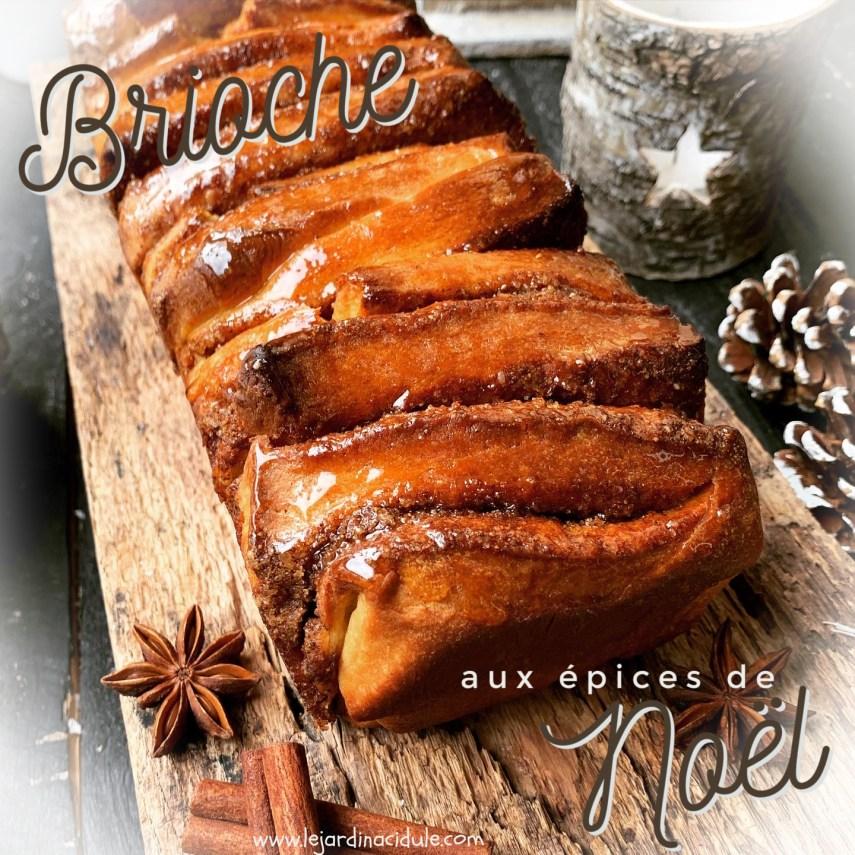 Brioche aux épices de Noël
