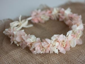 Le Jardin d'Audrey - White and pink Flower crown
