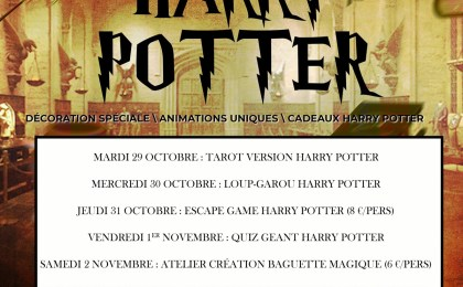 animations de la semaine harry potter