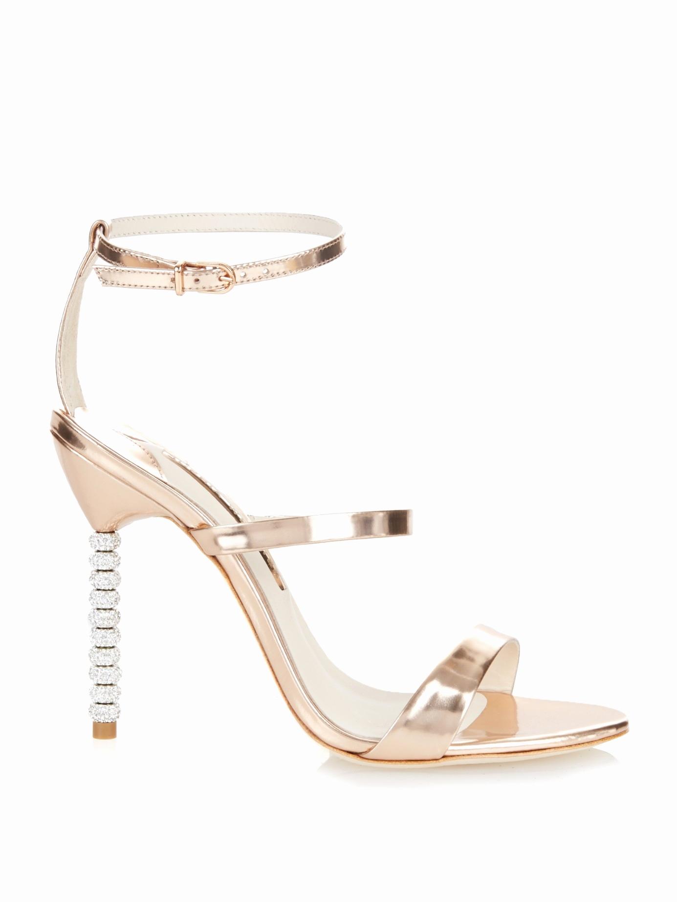 bd3a2d950 sophia webster wedding shoes Elegant Sophia webster Rosalind Crystal Heel  Metallic Leather Sandals in