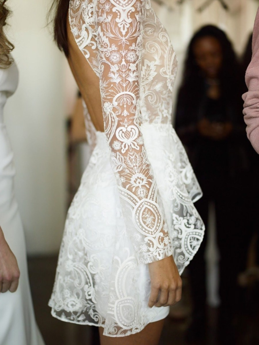 Rime Arodaky, short wedding dress, cool wedding dress, modern bride