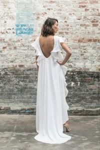 Rime Arodaky, short wedding dress, cool wedding dress, modern bride
