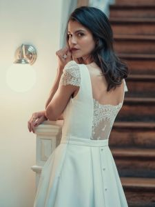 Laure de Sagazan, short wedding dress, fashion bridal