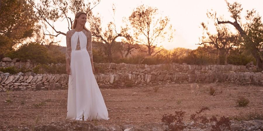 Margaux Tardits, long sleeve wedding dress, french wedding style