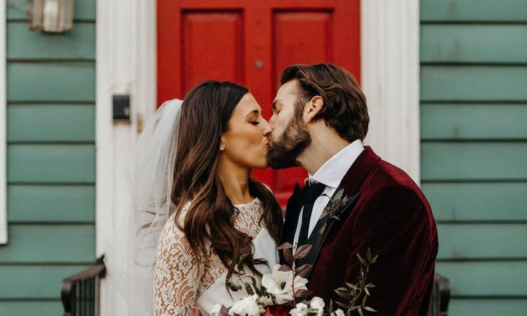Rime Arodaky, real bride, olsen gown, bridal inspiration