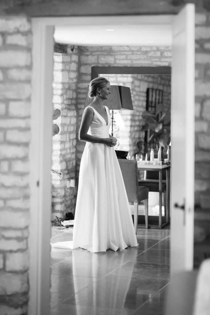 Marie Laporte, real bride, french bridal couture, Simple wedding dress, constance by Marie Laporte