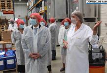 Boves, ce vendredi 19 juin, dans l'après-midi : le secrétaire d'État Laurent Pietraszewski a visité l'usine agroalimentaire Metarom.