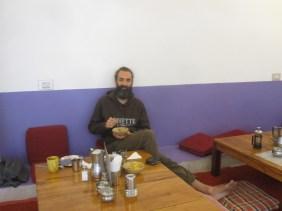 Anhoki Garden cafe, desayunando un día cualquiera después de la practica