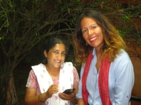 Con Harini, mi segunda madre ;-)