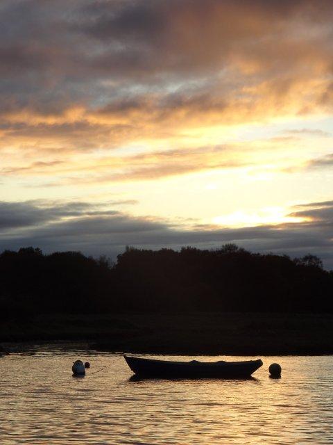 Wivenhoe coucher de soleil direction