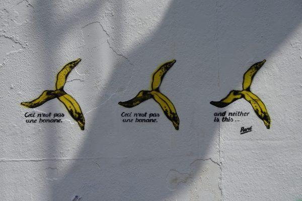 graffiti bananes
