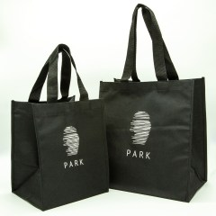 This featured bag is made of high density polyester with nylon handles