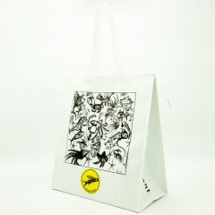 120g non-woven material with a glossy lamination and added insulation