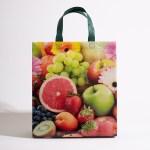 colorful fruit print reusable bag, fruits grocery reusable bags,