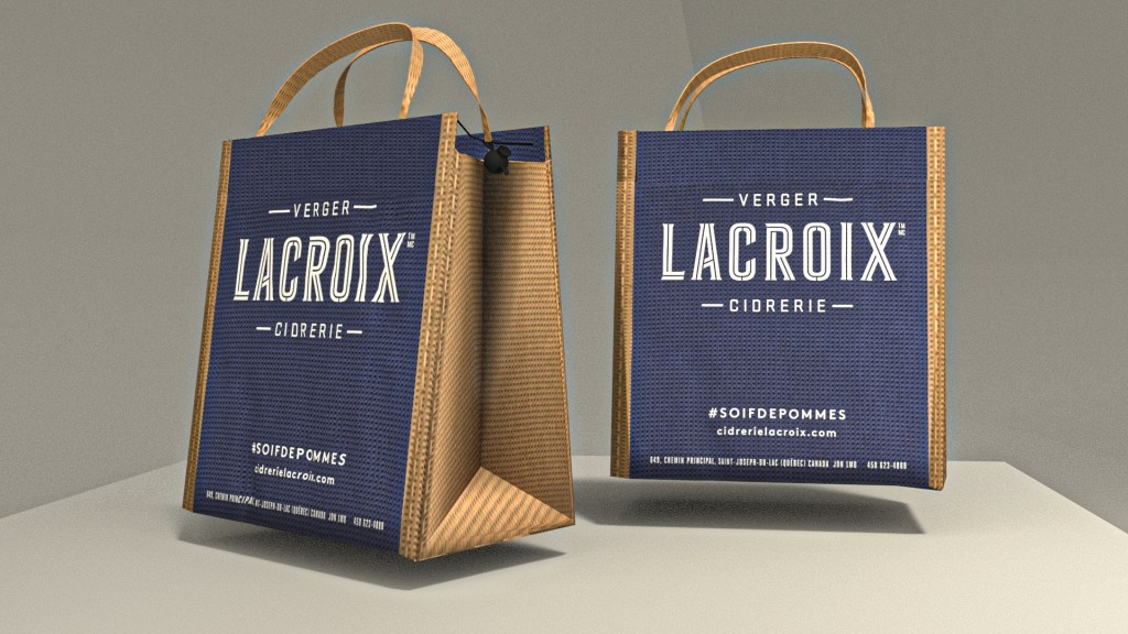 3d mockup of one reusable bag to be shown to client as sample