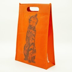 100g non-woven material with a silk screen print.