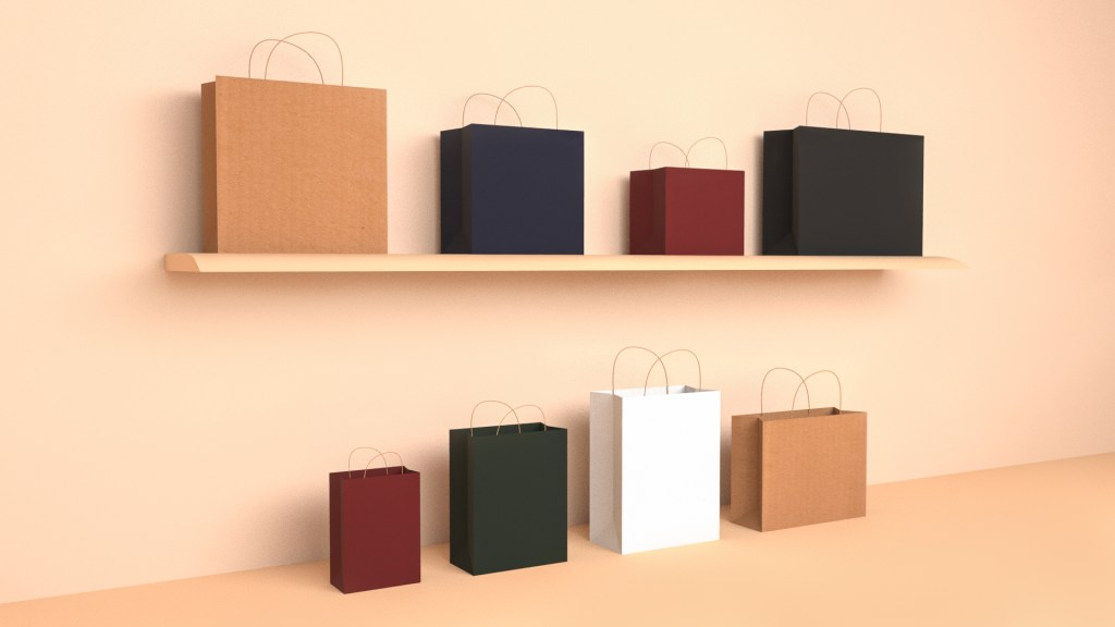 Kraft paper bags shown as a cost effective option for packaging