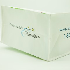 120g non-woven bag with a glossy lamination and CMYK print
