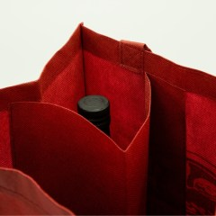 100gsm non-woven material with silk screen print and collapsible inner pockets