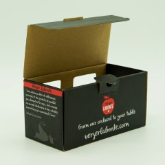Thick corrugated jar box with full colour print