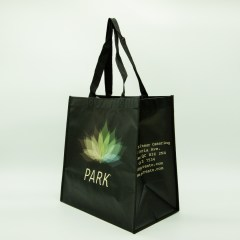 120g non-woven bag with matte lamination and extra side-gusset detailing