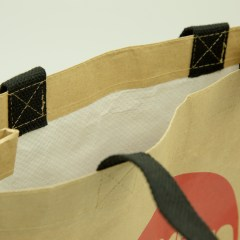 kraft-woven bag with water-resistant features, 1-colour print and a cotton handle