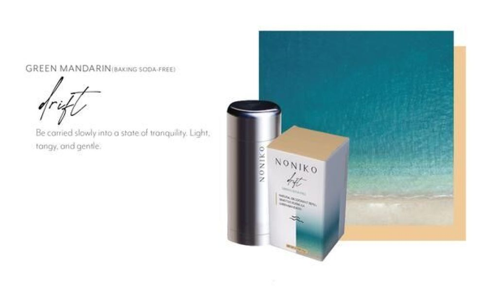 Noniko packaging design for refill deodorant