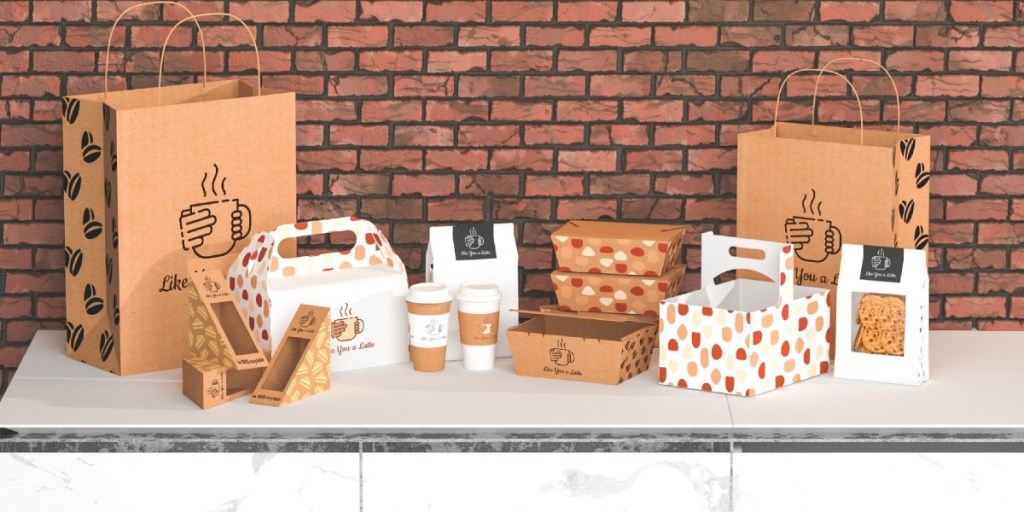 3D image showing different takeout products for 2020 campaign